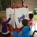 Painting is fun at our Provo Childcare